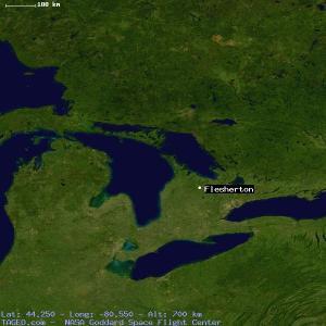 map showing Flesherton